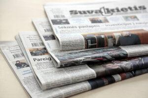 Popierinio laikraščio prenumerata nuo BIRŽELIO mėnesio